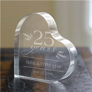 Personalized Anniversary Gifts | Heart Engraved Anniversary Keepsake