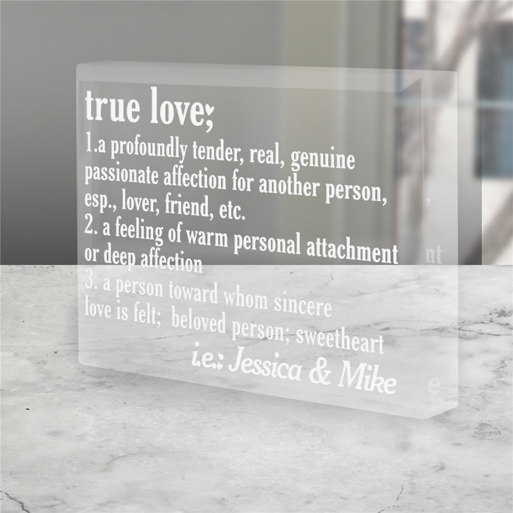 True Love Valentine Keepsake | Personalized Couple Gifts