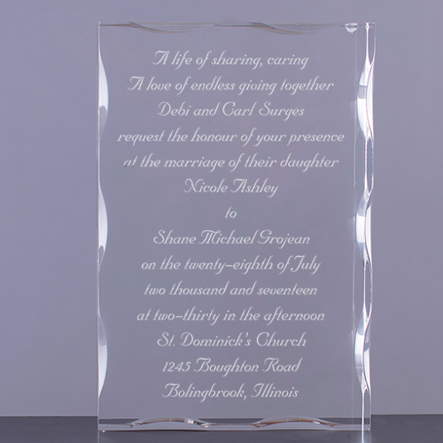 Wedding Invitation Personalized Keepsake Block
