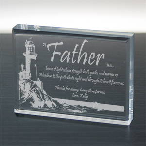 Personalized Father's Day Keepsake - Lighting The Way
