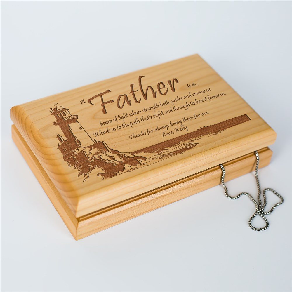 Lighting The Way Personalized Father's Day Valet Box | Father's Day Keepsake