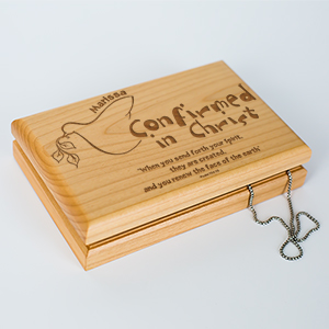Your Spirit Personalized Confirmation Valet Box | Personalized Keepsake Box