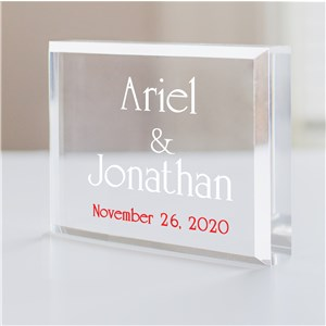 Personalized Cake Topper | Keepsake with Wedding Date