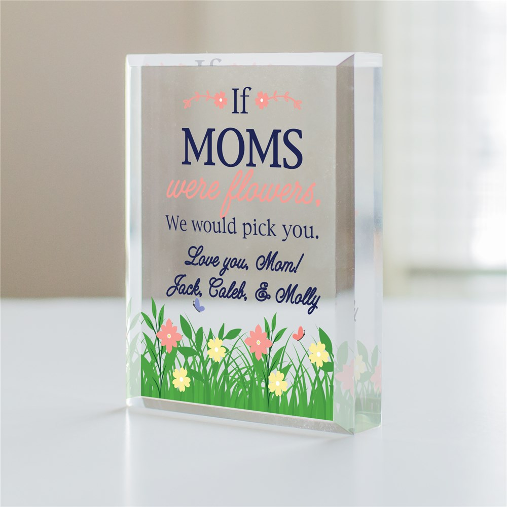 Personalized Flowers with We Would Pick You Acrylic Block 7161053