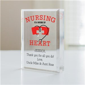 Personalized Work of Heart Nurse Keepsake