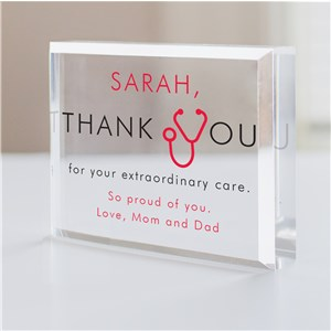 Personalized Extraordinary Care Health Care Worker Keepsake