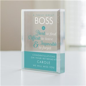 Personalized A Truly Great Boss Keepsake 7177563