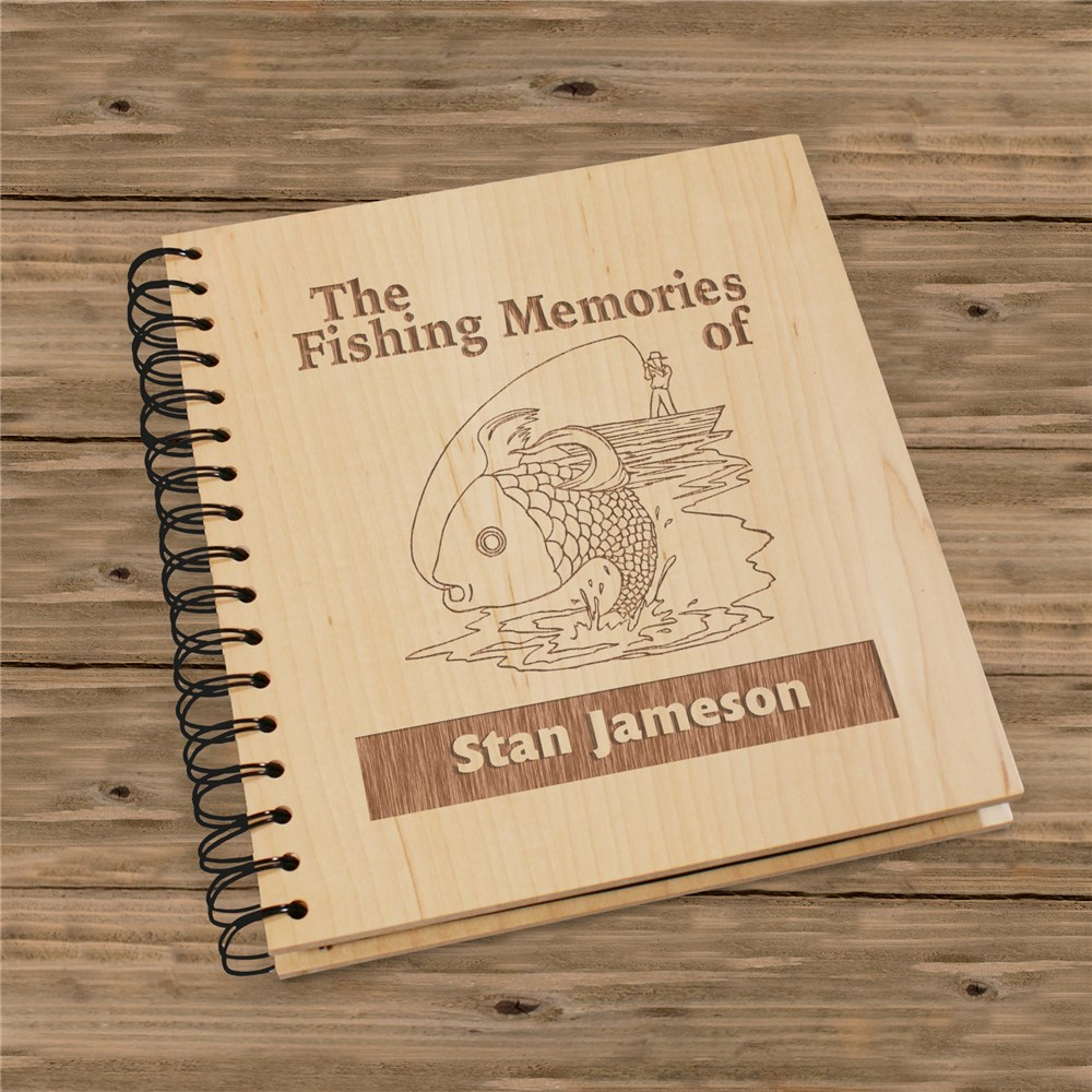 Fishing Memories Photo Album | Personalized Fishing Gifts