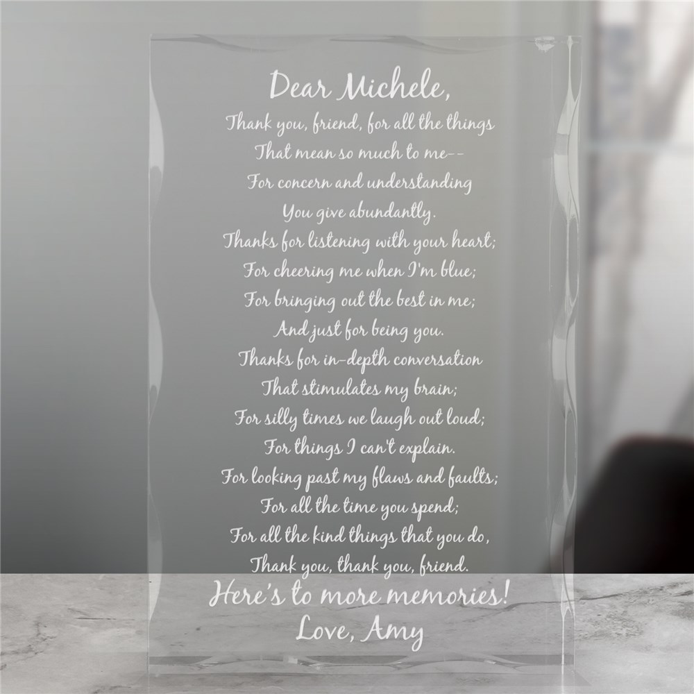To My Friend... Personalized Keepsake Block