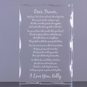 To My Love... Personalized Keepsake Block