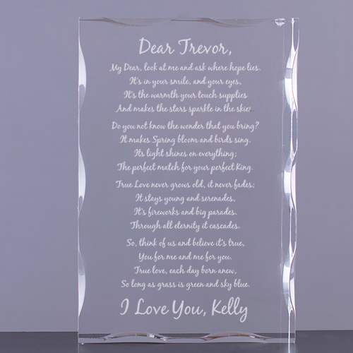 To My Love Personalized Keepsake Block | Personalized Valentine's Day Gifts