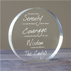 Engraved Serenity Prayer Keepsake 720682R