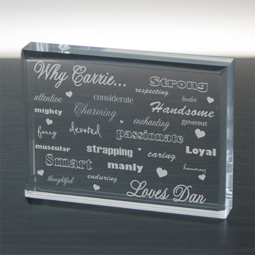 Engraved Why I Love You Keepsake | Personalized Small Valentine's Gifts
