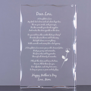 To My Daughter... Personalized Keepsake Block