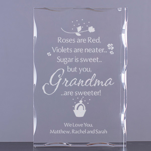 Personalized Sweet Grandma Keepsake Block