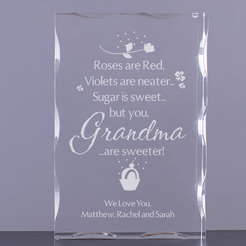Personalized Sweet Grandma Keepsake Block | Personalized Gifts for Grandma