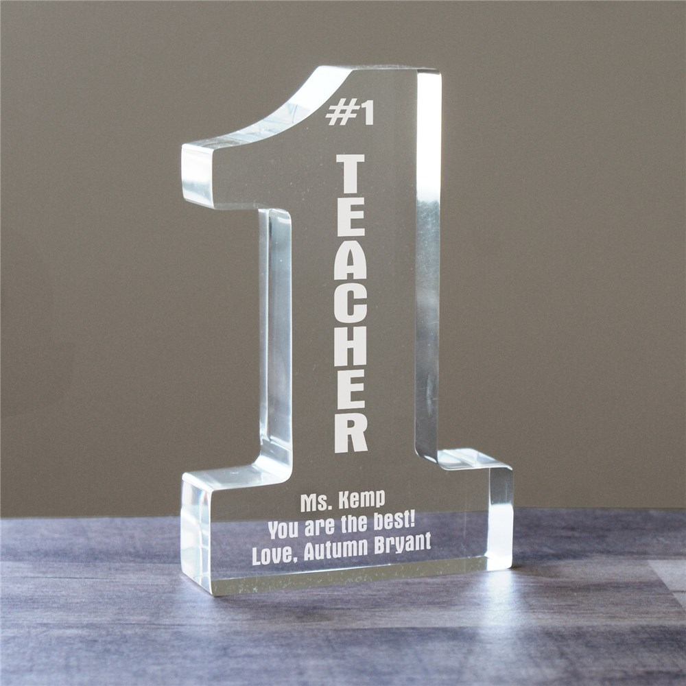 Number One Teacher Personalized Keepsake | Personalized Teacher Gifts