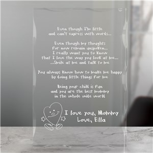 Even Though I am Little Keepsake | Personalized Gifts For Mommy