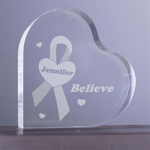 Breast Cancer Awareness Personalized Heart Keepsake