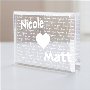 Engraved I Love You Keepsake | Personalized Couple Gifts