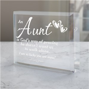 God's Way of Proving... Personalized Keepsake | Personalized Aunt Gifts