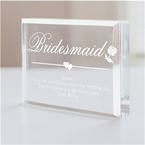 Bridesmaid Personalized Keepsake | Personalized Bridesmaid Keepsakes