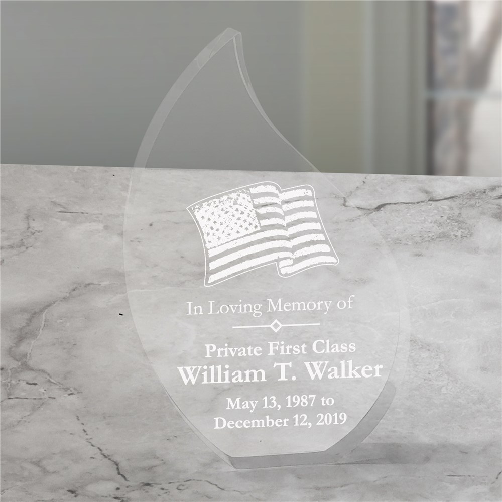 In Loving Memory Personalized Military Memorial Tear Keepsake | Memorial Gifts