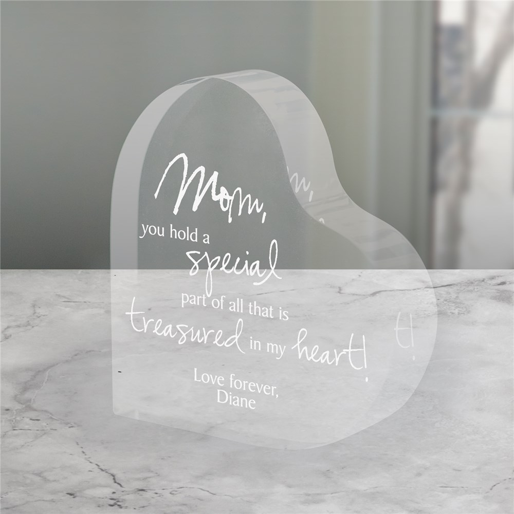 Engraved Treasured In My Heart Keepsake | Sentimental Gifts For Mom