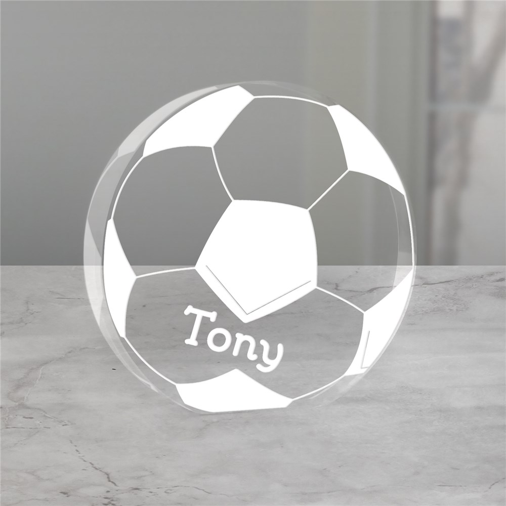 Engraved Soccer Keepsake | Personalized Gifts for Him