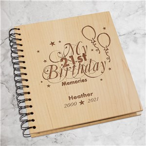 Engraved 21st Birthday Memories Photo Album 739714