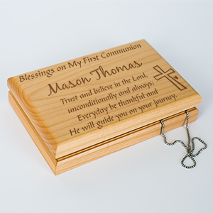 Engraved First Communion Valet Box 765385