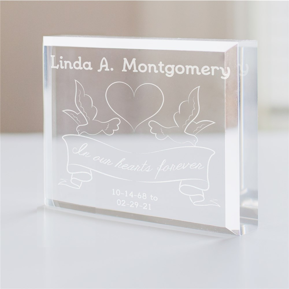 Engraved In Our Hearts Forever Memorial Keepsake | Memorial Gifts