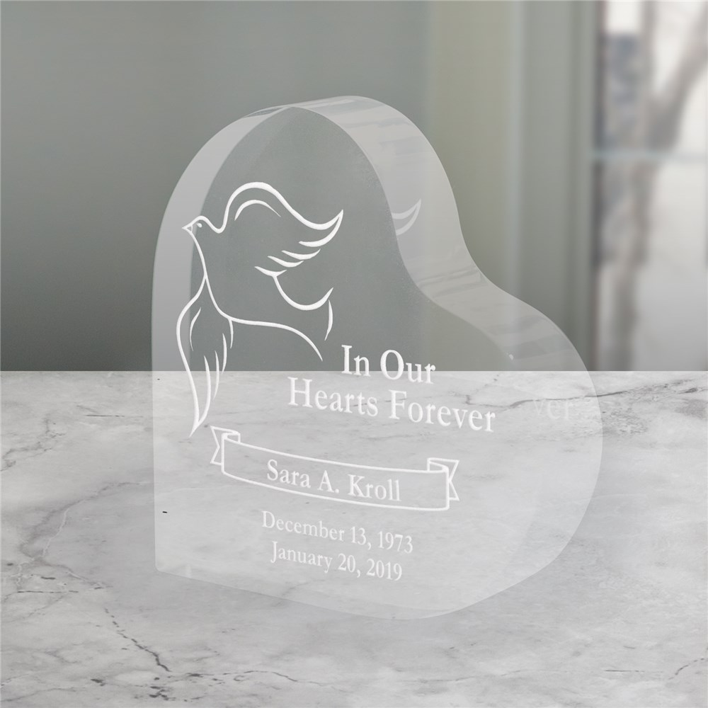 Engraved In Our Hearts Forever Heart Sympathy Gift Keepsake | Memorial Gifts
