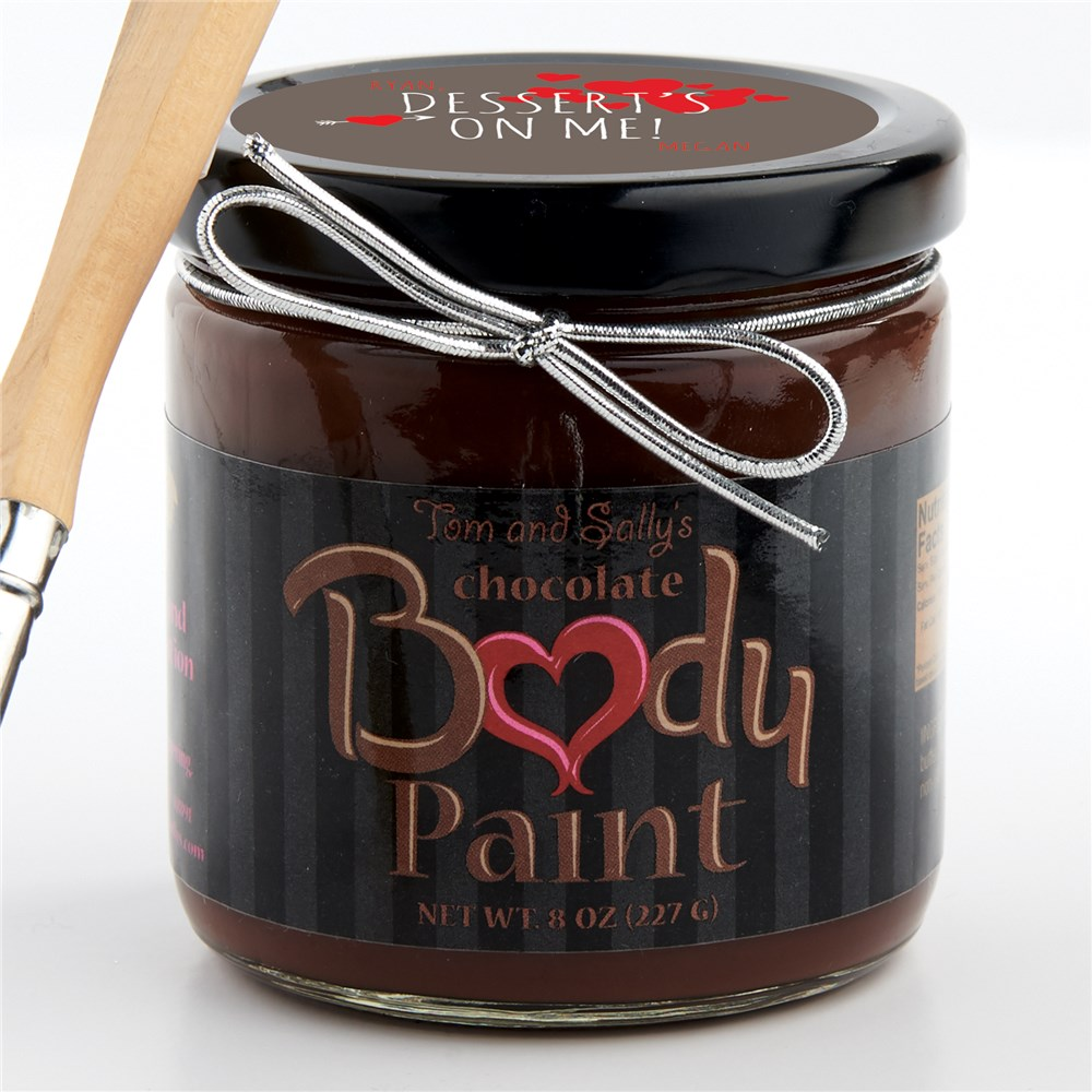 Personalized Dessert's On Me Chocolate Body Paint | Unique Sexy Valentines Day Gifts For Him