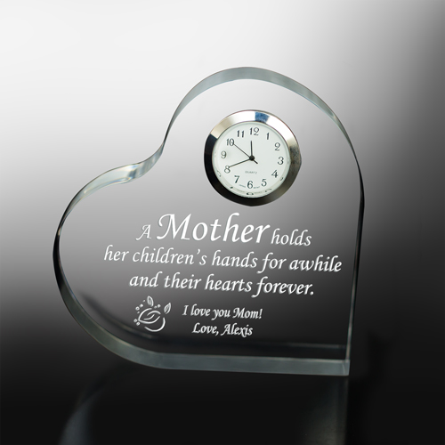 Personalized Mother's Day Keepsake Clock | Gifts For Mom From Daughter