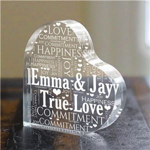 Engraved Couples Heart Keepsake | Personalized Valentine Gifts