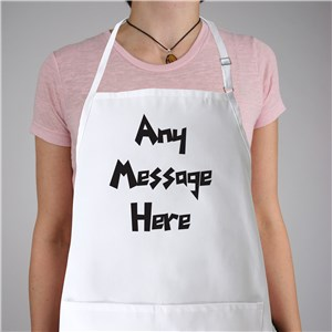 Funky Message Personalized Apron | Personalized Aprons