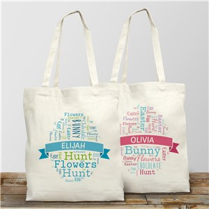 Easter Egg Personalized Tote Bag | Personalized Easter Gifts