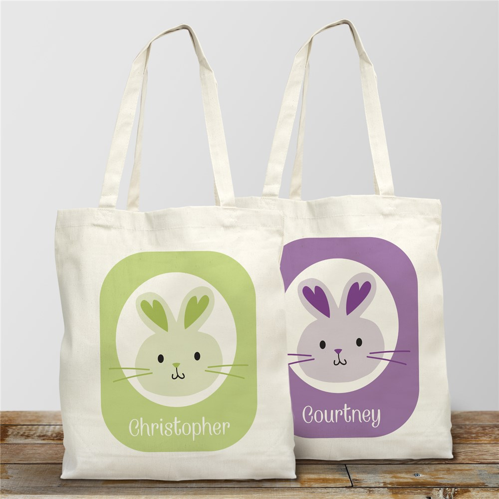 Easter Bunny Personalized Tote Bag | Personalized Easter Basket