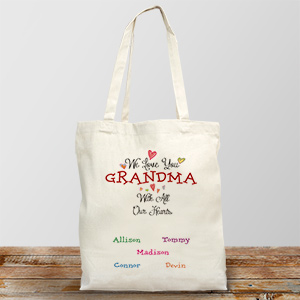Personalized With All Our Heart Tote 8101522