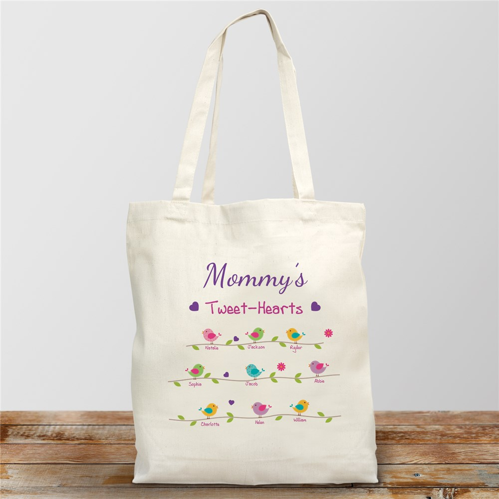 Personalized Tweet-Hearts Tote Bag | Personalizable Totes