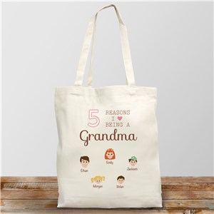 Personalized Reasons I Love Tote | Personalized Grandma Gifts