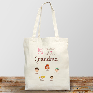 Personalized Reasons I Love Tote Bag
