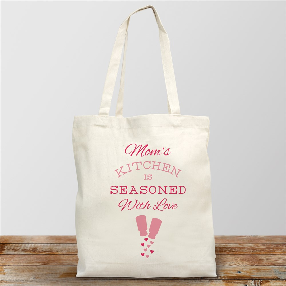 Personalized Seasoned with Love Tote | Personalized Gifts For Grandma