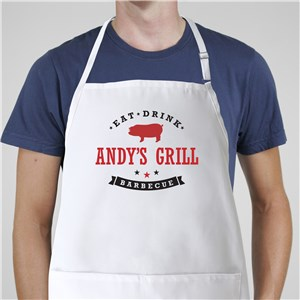Personalized Eat, Drink, Barbecue Apron | Custom Apron