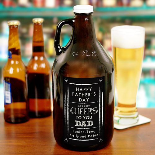 Personalized Cheers to You Dad Growler | Bar Gifts for Dad