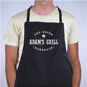 Personalized Colorful Eat, Drink, Barbecue Apron | Grilling Gifts for Dad