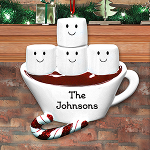 Personalized Hot Cocoa with Marshmellows Family Ornament 8103083X