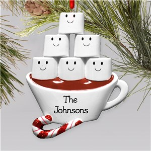 Personalized Hot Cocoa with Marshmellows Family Ornament | Personalized Family Christmas Ornaments