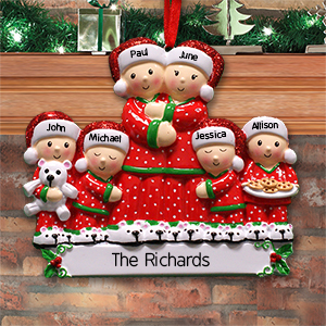 Personalized Pajama Family Ornament | Personalized Family Christmas Ornaments